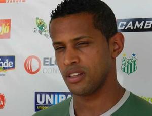 Atacante Paulão Uberlândia Esporte (Foto: Hismênia Keller / GLOBOESPORTE.COM)