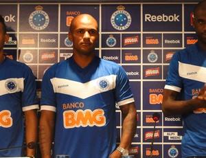 Gilson, Amaral e Rudnei, do Cruzeiro (Foto: Fernando Martins/Globoesporte.com)