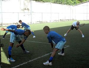 jogadores no treino do Botafogo (Foto: Thales Soares / Globoesporte.com)