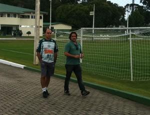 Marcelo Oliveira na reapresentação do Coritiba (Foto: Gabriel Hamilko / GloboEsporte.com)