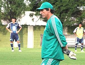 Carlos Pracidelli no treino do Palmeiras (Foto: Divulgação)