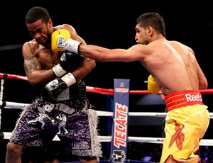 boxe Amir Khan versus Lamont Peterson (Foto: Agência Getty Images)