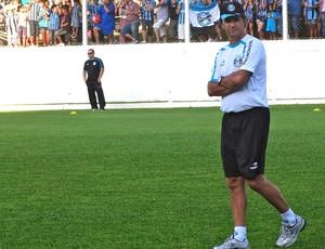 Caio Júnior técnico do Grêmio no treino na pré-temporada em Bento Gonçalves (Foto: Eduardo Cecconi/Globoesporte.com)