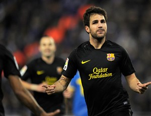 Fabregas gol Barcelona (Foto: AFP)