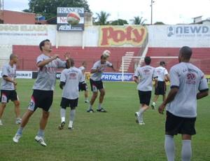 Equipe do Linense treina para o Paulistão de 2012 (Foto: Guilherme Martins)