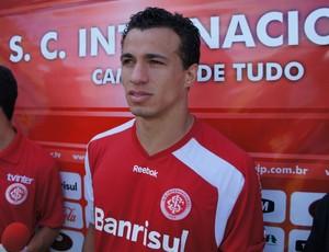 Leandro Damião na pré-temporada do Inter em Gramado (Foto: Diego Guichard)