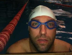 João Carlos, nadador da equipe do CDDU de Uberlândia (Foto: Luiz Vieira/GLOBOESPORTE.COM)