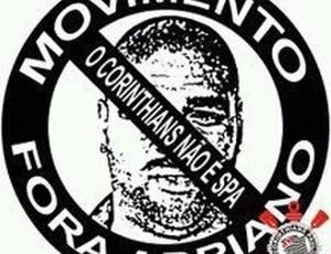 Movimento Fora Adriano - Corinthians (Foto: reprodução)