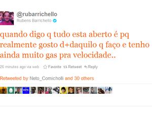 Rubens Barrichello Twitter Fórmula 1 (Foto: Reprodução / Twitter)