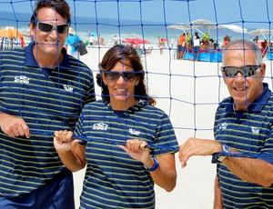 Vôlei de praia jaqueline Jorge Barros Marco Antonio Albuquerque comissão técnica da base (Foto: Divulgação / CBV)