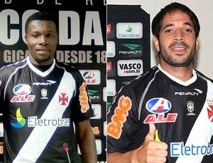 Tenorio e Abelairas, do Vasco (Foto: Arte/SporTV.com)
