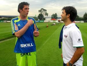 Bruno do Palmeiras com Pedro Boesel (Foto: Diego Ribeiro / GLOBOESPORTE.COM)
