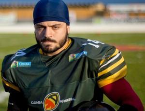 Igor Motta, capitão da seleção brasileira de futebol americano (Foto: Rogério Florentino Pereira/Divulgação)