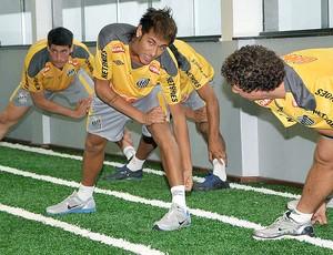 Neymar na reapresentação do Santos (Foto: Ricardo Saibun / Site Oficial do Santos)