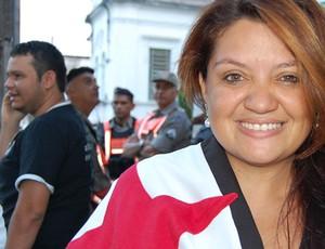 Renata torcedora do Botafogo-PB (Foto: Cadu Vieira)