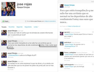 Twitter Rojas Botafogo (Foto: Reprodução/Twitter)
