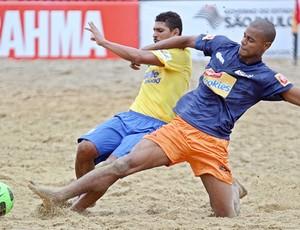 André e Osmar - seleção brasileira futebol de areia desafio internacional (Foto: Wander Roberto e William Lucas/Inovafoto)