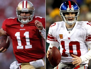 Montagem NFL - Alex Smith x Eli Manning (Foto: Getty Images)