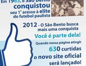 Campanha do São Bento para lançar novo site na internet (Foto: Divulgação/ São Bento)