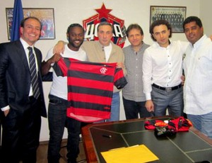 Vagner love camisa flamengo michel levy  (Foto: Site Oficial do Flamengo)
