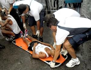 atletas no Desafio da Paz na Rocinha (Foto: Luisa Prochnik / Globoesporte.com)