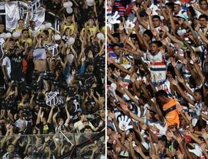 Torcida Ceará e Fortaleza (Foto: Tuno Vieira/ Natinho Rodigues/ Ag. Diário)