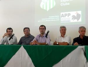 Diretoria do Uberlândia Esporte lança plano de marketing do Verdão (Foto: Fabiano Rodrigues/GLOBOESPORTE.COM)