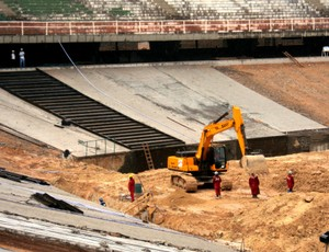 Obras de visibilidade do Estádio Castelão (Foto: Divulgação/Secopa)