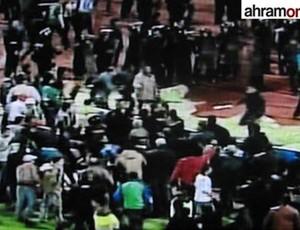 egito confusão estádio (Foto: Reprodução/Ahram Online)