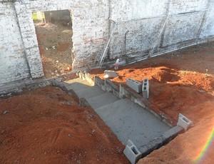 Abertura de portão exclusivo para visitantes no estádio Fausto Alvim, em Araxá (Foto: Divulgação AEC)