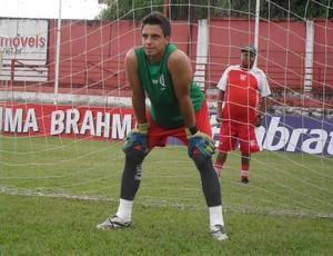 Thiago Régis, goleiro do Guarani-MG (Foto: Cleber Corrêa)
