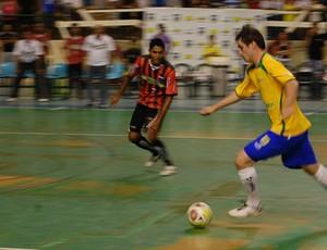 Em João Pessoa, seleção brasileira de futsal goleia por 4 a 0 a Paraíba (Foto: Larissa Keren)