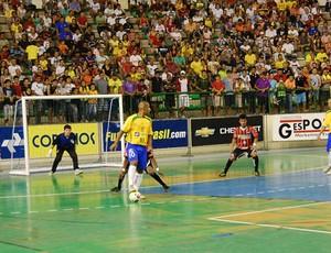 Seleção brasileira de futsal goleia por 4 a 0 a Paraíba (Foto: Larissa Keren)
