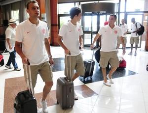 Delegação do Inter chega a Caxias do Sul (Foto: Divulgação/Inter)