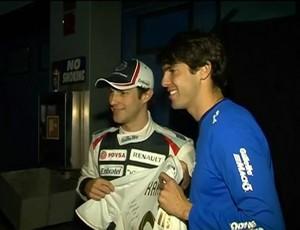 Kaka e Bruno Senna Esporte Espetacular (Foto: Reprodução/TV Globo)