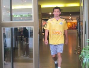 Juan, lateral do Santos, em hotel na Bolívia (Foto: Marcelo Hazan / globoesporte.com)