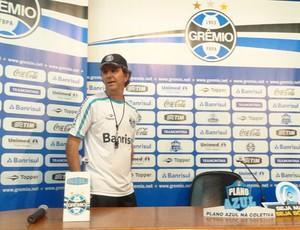 Técnico Caio Júnior, do Grêmio (Foto: Tomás Hammes/Globoesporte.com)