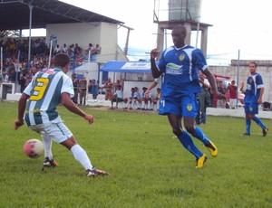 O atacante nacionalino Leonardo desperdiçou algumas oportunidades de gols (Foto: Adeilson Albuquerque/Globoesporte.com)
