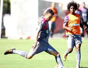 Rodolfo e William Barbio no treino do Vasco (Foto: Marcelo Sadio / Site Oficial do Vasco da Gama)
