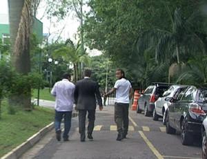 Wesley, no CT do Palmeiras (Foto: Reprodução / TV Globo)