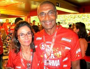 Cristóvão Borges no carnaval do Rio de janeiro (Foto: Thiago Fernandes / GLOBOESPORTE.COM)