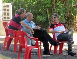 Dirigentes do Flamengo.  (Foto: Richard de Souza / globoesporte.com)
