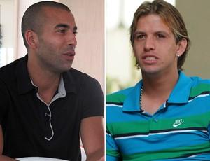 Montagem Emerson Sheik e Diguinho (Foto: Montagem sobre foto do Globoesporte.com)