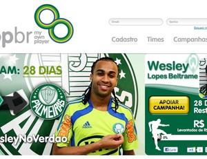 Site tenta arrecadar dinheiro para contratação de Wesley (Foto: Reprodução da internet)