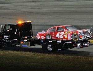 Incêndio Juan Pablo Montoya Daytona 500 (Foto: Getty Images)