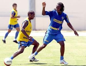Andrezinho e Jobson no treino do Botafogo (Foto: Cezar Loureiro / Agência O Globo)