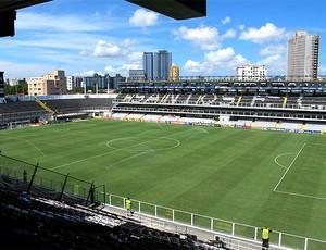 estádio da Vila Belmiro  (Foto: Marcelo Hazan / Globoesporte.com)