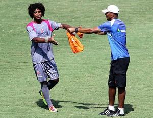 William Barbio e Cristóvão no treino do Vasco (Foto: Cezar Loureiro / Agência O Globo)