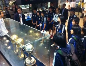 Seleção feminina sub-17 do Japão visita o Santos (Foto: Matheus Misumoto / TV Tribuna)