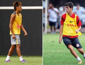 neymar oscar internacional santos internacional (Foto: Editoria de Arte/Globoesporte.com)